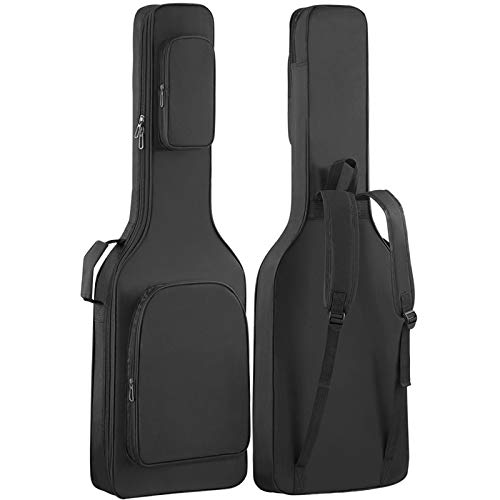 GLEAM Electric Guitar Gig Bag - Thicker 0.3 Inch Sponge Padding with Two Large Pockets Waterproof