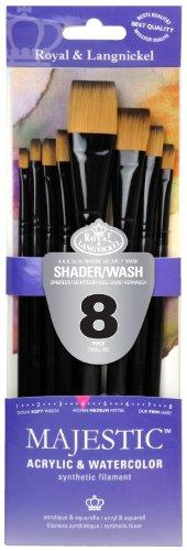 Royal & Langnickel Majestic Colori acrilici Shader/Wash Brushes