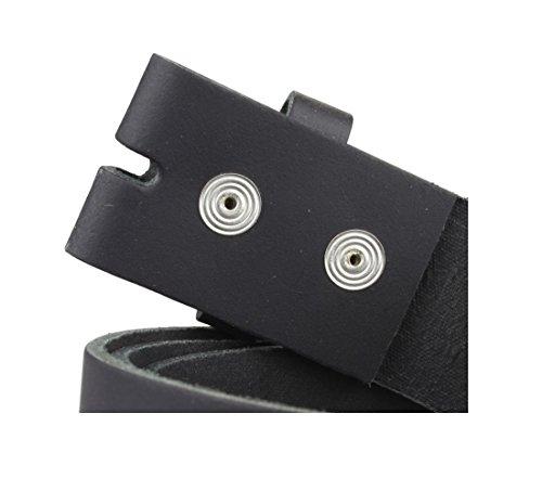 Echt Leder Wechselgürtel | Gürtel für Gürtelschnalle / Buckle in schwarz | Bundweite 110 - 3