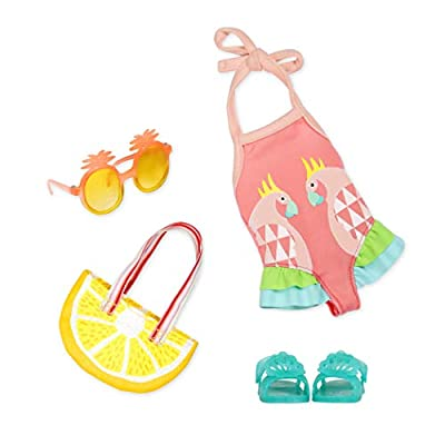 """Glitter Girls by Battat - Ray of Light Swimsuit Outfit -14"""" Doll Clothes– Toys, Clothes & Accessories for Girls 3-Year-Old & Up"""