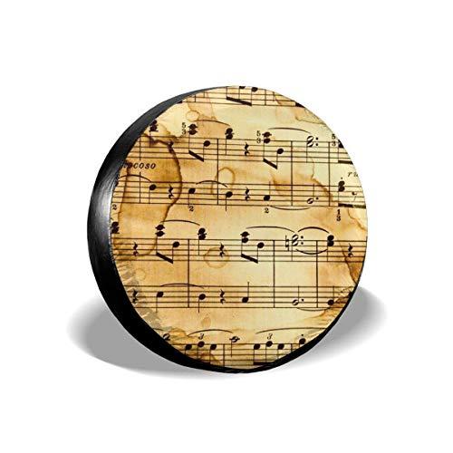 Drew Tours Music Note Cubierta de llanta de refacción Cubierta de llanta de refacción Universal Tamaño 15 Pulgadas