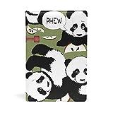 EZIOLY Panda - Funda para libros de texto de hasta 8,7 x 5,8 pulgadas, sin adhesivos, con diseño de mancuerna Fácil de aplicar. Lavado y reutilizable