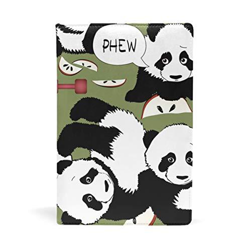 EZIOLY Panda - Funda para libros de texto de hasta 8,7 x 5,8 pulgadas, sin adhesivos, con diseño de