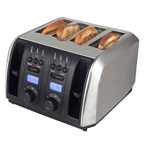 Brood Crumb Chassis Brood Toasters 1750 (W), met verwarming, ontdooien, annuleren, 5 Gear Temperature Control, met Liquid Crystal Display