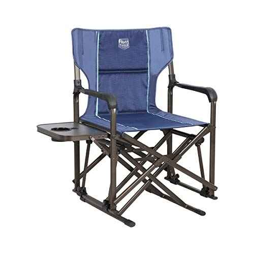 "Timber Ridge Camp Rocking Chair, Polyester, Blue, 19.6""W x 18.5""D x 35.8""H"