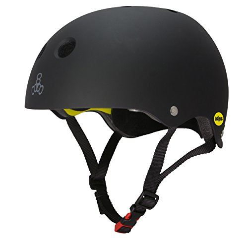 Find Discount Triple Eight Dual Certified MIPS Bike and Skateboard Helmet, Black Matte, Large/X-Large