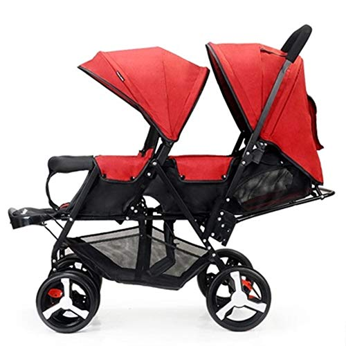 Why Choose Byrhgood Double Infant Trolley, Twin Baby Stroller Lightweight Folding Double Two-Seater ...