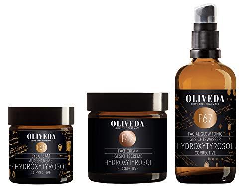 Oliveda F67 Gesichtswasser Hydroxytyrosol Corrective 100ml + F42 Corrective Gesichtscreme 60ml + F60 Augencreme 30ml