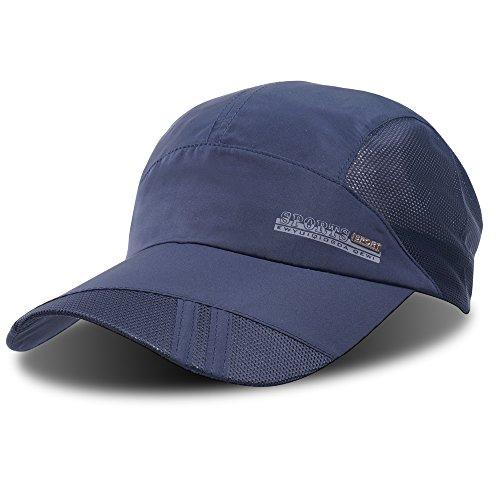 Baseballkappe, Outdoor-Cap zum Laufen, schnelltrocknend, atmungsaktiv, Unisex, von ZEARE, navy