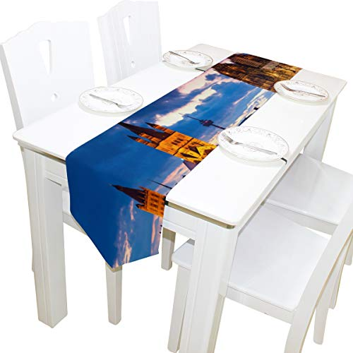 Yushg Splendid Forever Kölner Dom Kommode Schal Stoffbezug Tischläufer Tischdecke Tischset Küche Esszimmer Wohnzimmer Home Hochzeitsbankett Dekor Indoor 13x90 Zoll