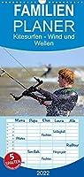 Kitesurfen - Wind und Wellen - Familienplaner hoch (Wandkalender 2022 , 21 cm x 45 cm, hoch): Spektakulaere Aktionsszenen an verschiedenen traumhaften Surfspots (Monatskalender, 14 Seiten )