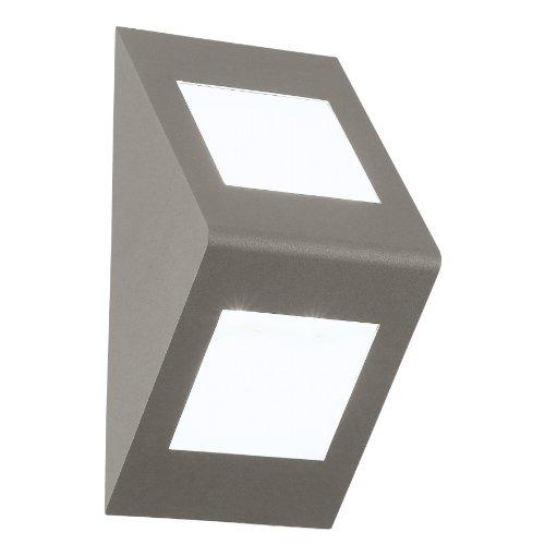Eglo LED Aussen Wand Deckenleuchte Modell Morino / aus Aluguss in silber und weiß / 3 x 4.76 W LED, warmweiß / inklusiv Leuchtmittel / Leuchtmittel austauschbar / Schutzgrad IP44 / 14 x 28 cm / Ausladung 12.5 cm 91096