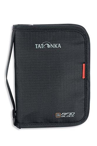 Tatonka Travel Zip M RFID B - Reisepasstasche mit RFID Blocker - TÜV geprüft - Bietet Platz für (EU) Reisepass, Kreditkarten, Reisedokumente, etc. - Schützt vor Datenklau - 17 x 12 x 3 cm - olive