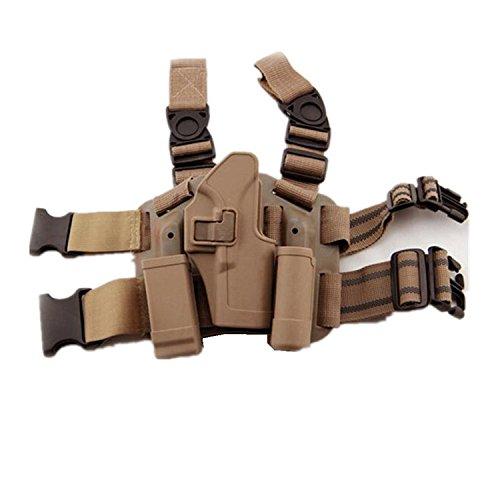 H World EU - Fondina tattica per gamba destra con tasca per torcia, per Glock 171922233132, de