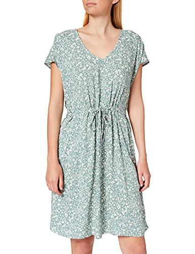 TOM TAILOR Denim Damen 1024957 Basic Kleid, Mineral Blue Flower (26501), L