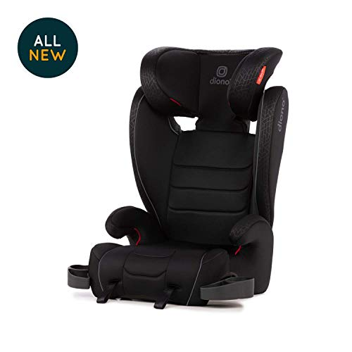 Diono Monterey XT Booster – 2-in-1 Car Seat - High Back and Backless Booster - Forward-Facing 40-120 Pounds - Expandable Seat Width to 20' - Safety That Grows with Your Child, Red