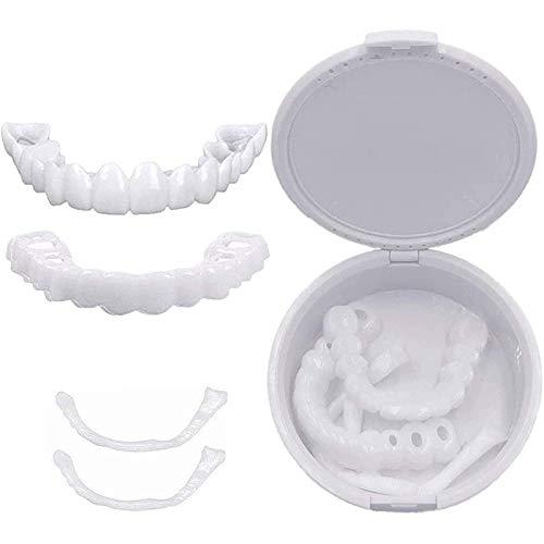 Zahnersatz Dental Provisorischer Zahnprothese Veneer, Ober Und Unterkiefer Sofortiges Lächeln Perfekte Natürlich Neue Bequeme Zähne Top Cosmetic Furnier, 2 Paar