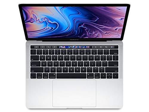"Apple 13.3"" MacBook Pro w/ Touch Bar (Mid 2018), 227ppi Retina Display, Intel Core i5-8259U Quad-Core, 512GB PCI-E Solid State Drive, 8GB DDR3, 802.11ac, Bluetooth, macOS 10.13, Silver (Renewed)"