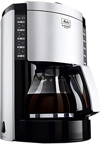 Melitta M652-020304 Look de Luxe III cafetière à filtres 10/15 Tasses - Noir / Argent