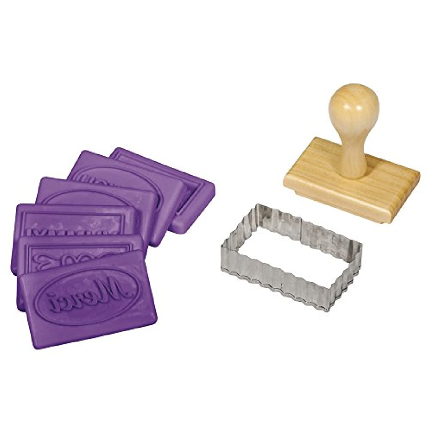 RAYHER HOBBY Love More Set Cookie Stamps, Wood, Brown, 23 x 10.5 x 7.5 cm