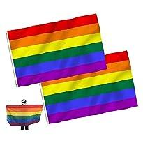 Regenbogen-Flagge 150x90 cm von JZZJ