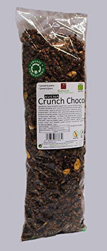 Crunch Choco Avena y Proteína, con Superfoods y Frutos Secos BIO 980 gr (Muesli crujiente de chocolate, con Agave, 2 bolsas compostables de 490 gr)