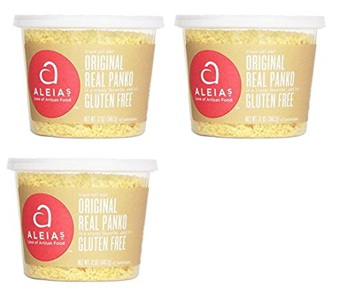 Aleias Gluten Free Panko Crumbs, Original, 12 Ounce (Pack of 3)