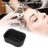ATSALON Cheveux Bacs pour Shampooing Cou Repos Coussin Noir Silicone Cheveux Lavabo Oreiller Spa Lavage Appui-tête Évier Beauté Salon Coiffure Professionnel Accessoire 4,9 x 2,6 Pouces