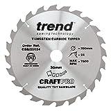 Trend CSB/25024 Craft <span class='highlight'>Saw</span> <span class='highlight'>Blade</span> 250MM X 24T X <span class='highlight'>30MM</span>, Silver
