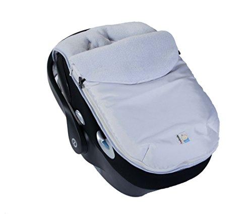 Kutnik Saco de abrigo universal polar para silla de coche - Plata y gris claro