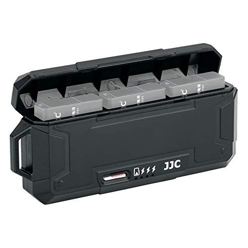 JJC Cargador de batería triple USB con función de lector de tarjetas Micro SD/TF para GoPro Hero 7, 6, 5 y 2018, resistente al agua, compatible con la batería GoPro AABAT-001
