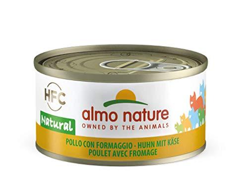 Almo Nature HFC Natural Katzenfutter nass - Huhn mit Käse 24er Pack (24 x 70g)
