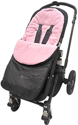 For-Your-Little-One universele voetenzak voor Silver Cross kinderwagen kinderwagen Buggy Light Pink