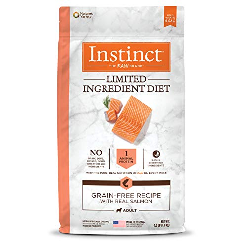 Instinct Limited Ingredient Diet Grain Free Recipe with Real Salmon Natural Dry Dog Food by Nature's Variety, 4 lb. Bag