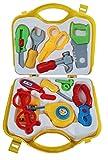 Amitasha Mechanic Carpenter Suitcase Tools Set for Kids (Multicolour) - Pack of 12 Tools
