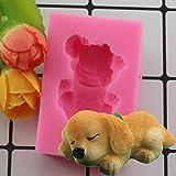 Molde de decoración de Pasteles de Fondant de Silicona Corgi Bulldog Molde de Arcilla de polímero de Chocolate Animal Sugarcraft Cake Tool para Hornear