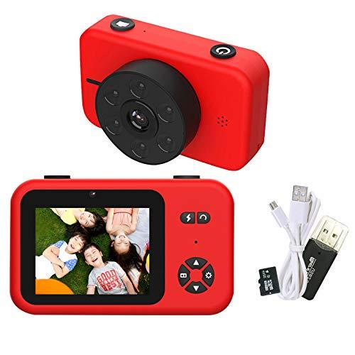 【2020年最新版 5000万画素】RONHAN 子供用 デジタルカメラ トイカメラ 子供用カメラ キッズカメラ 4KフルHD 2.4インチIPS画面 6LEDランプ搭載 USB充電 MP3 写真 動画 連写 タイマー撮影 耐衝撃性 操作簡単 ミニカメラ