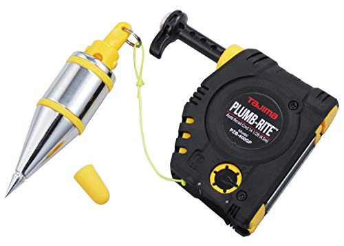 TAJIMA Plumb Bob Setter - 14 oz (400g) Magnetic Plumb-Rite with 14.5 ft Auto Recoil Cord & Quick-Stabilizing Bob - PZB-400GP