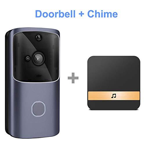 DZSF WiFi-deurbel-video-deursprek 720P HD draadloze Smart Home IP-deurbel-camera veiligheidswaarschuwing IR-nachtzicht