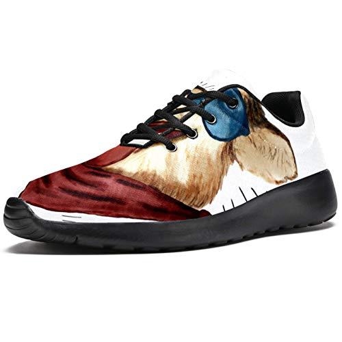 Zapatillas deportivas para correr para mujer, perro, con gafas de sol, de malla, transpirables, para caminar, senderismo, tenis, color, talla 37.5 EU
