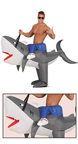 Costume da squalo gonfiabile misura unica