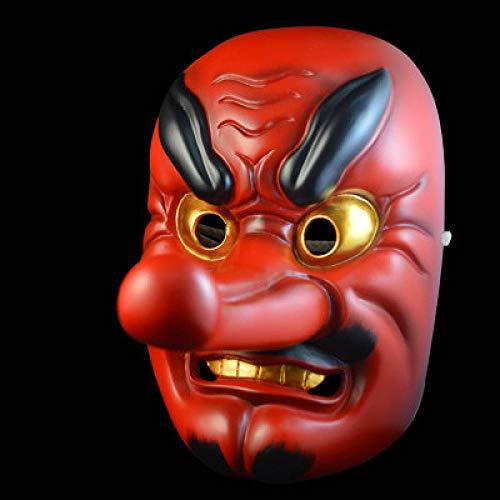 LIXB Japan NOH Drama Tengu Maske buddhistische Maske japanische Samurai Maske Sammleredition Harz Maske hängen @ 1