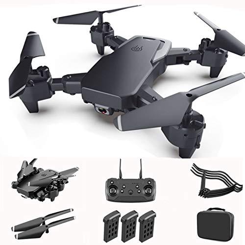 GACYSMD Drones para niños con cámara 4K RC Quadcopter para Adultos Drone para Principiantes con visión Nocturna con 3 batería y Estuche