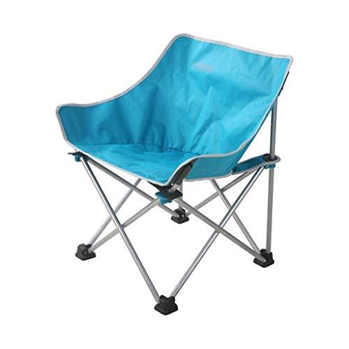 CSQ-portable Chaise de camping pliante de plage, chaise de randonnée ultralégère, chaise paresseuse, chaise de pêche bleue, adaptée au tourisme en plein air avec barbecue Pliable ( Color : Blue )