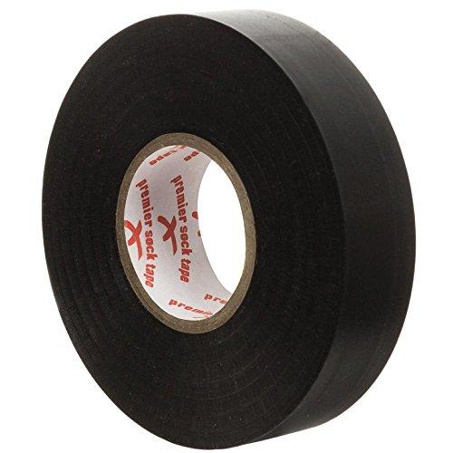 Premier Sock Tape Klebeband, 19 mm Pro Extra Stretch Fußball, Rugby-Socken schwarz schwarz Einheitsgröße