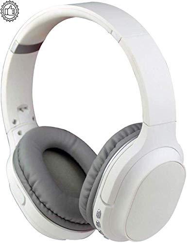 HZY Scheda Plug-in Portatile Pieghevole con Cuffia Bluetooth 4.2 Montata sulla Testa Sport in Esecuzione con Microfono con Cuffie Stereoscopiche A Cancellazione di Rumore Stereoscopiche,White