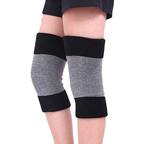 QINX 1 para deportes al aire libre, equitación, rodilleras, protección térmica, protección fina, rodilleras, rodilleras, color gris + negro