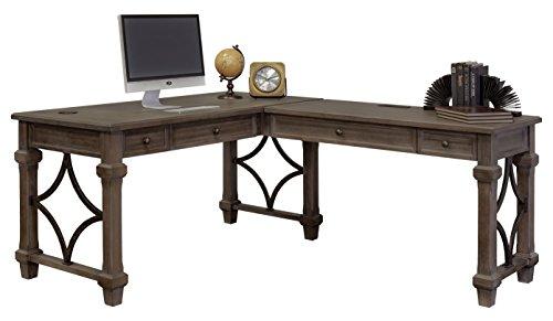 Martin Furniture Desk And Return, Weathered Dove