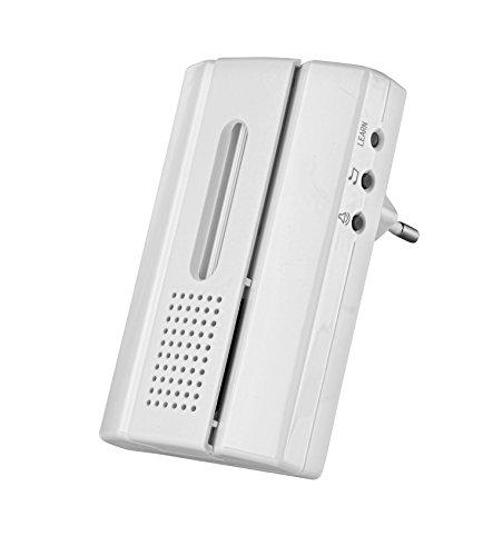 Trust Smart Home portatile–Campanello senza fili con pulsante campanello radio acdb ACDB-6600AC, bianco, 71083, Bianco, 71087