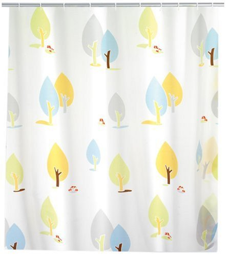 WENKO 19164100 Duschvorhang Autumn - hochwertiges Textilgewebe, 180 x 200 cm